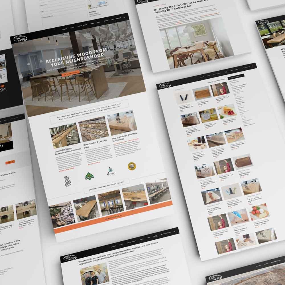 Wood From The Hood Website Design Monarkk