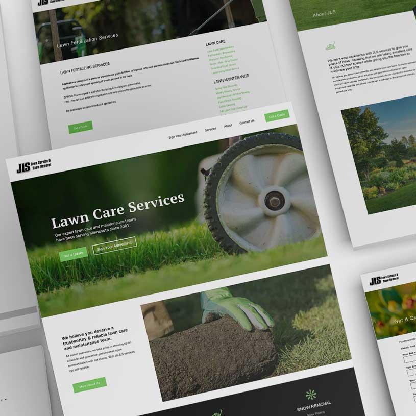 JLS Lawn Care and Snow Removal Prior Lake Minnesota Website Design Monarkk Studio