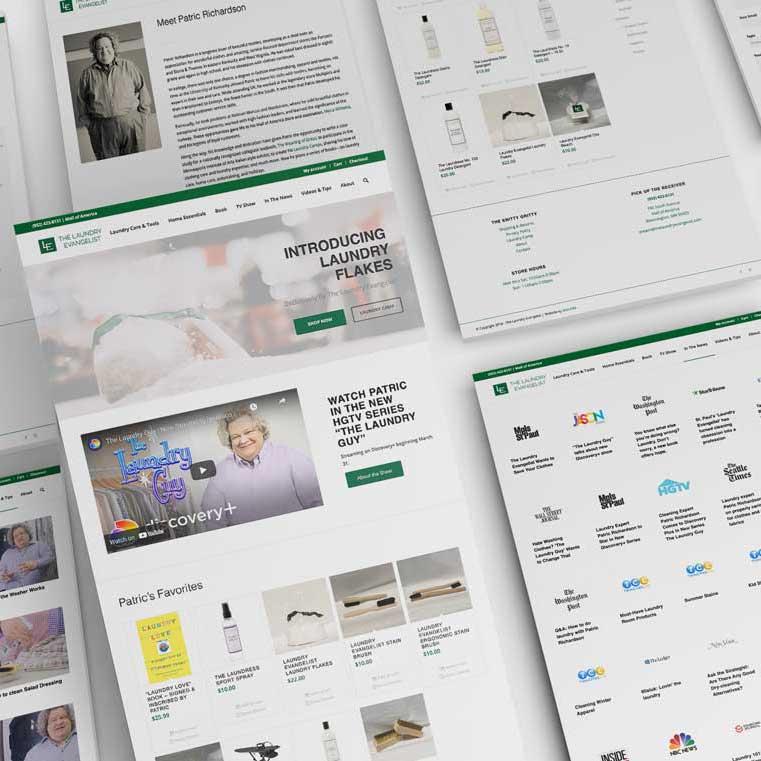 The Laundry Evangelist Patric Richardson Website Design Monarkk