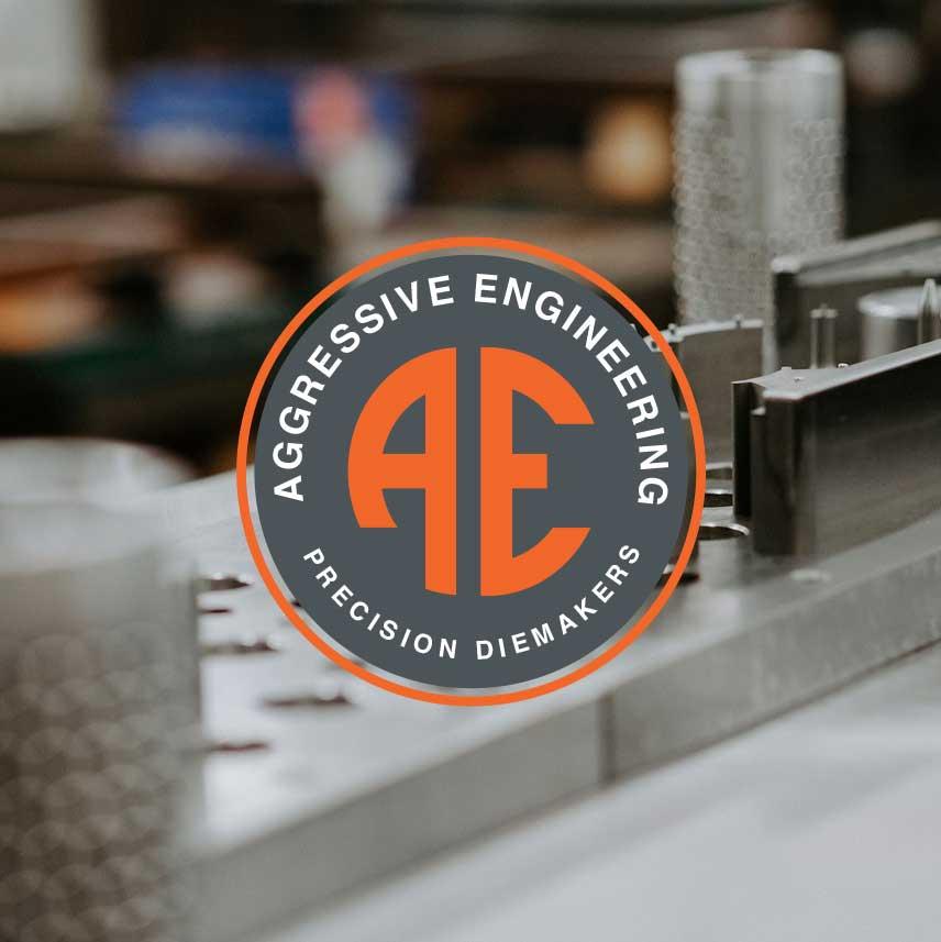 Aggressive Engineering Precision Diemakers Logo Design Monarkk