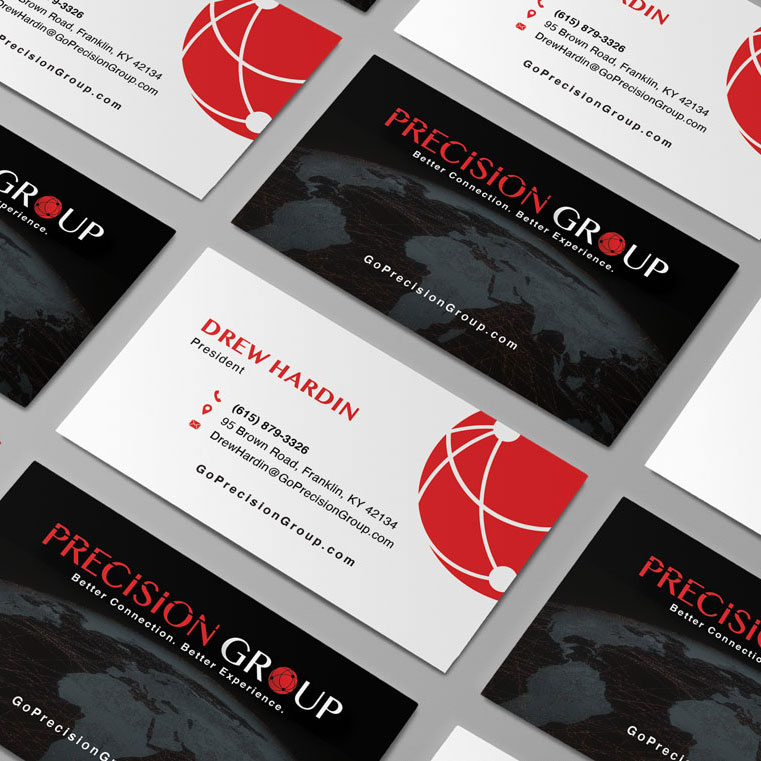 Precision Group Business Card Design Monarkk Studio
