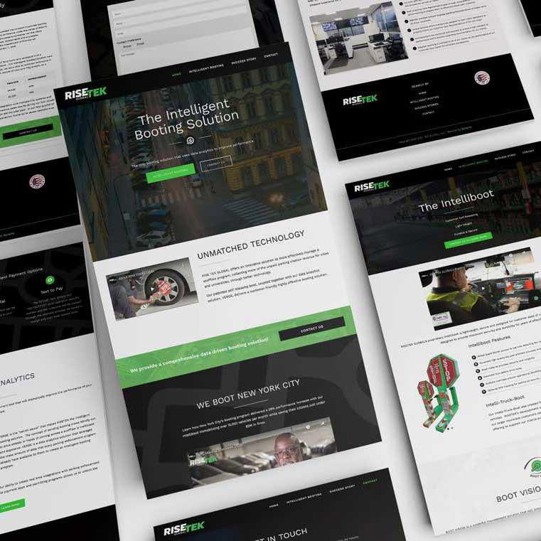Risetek Global Intelligent Booting Website Design Monarkk Studio