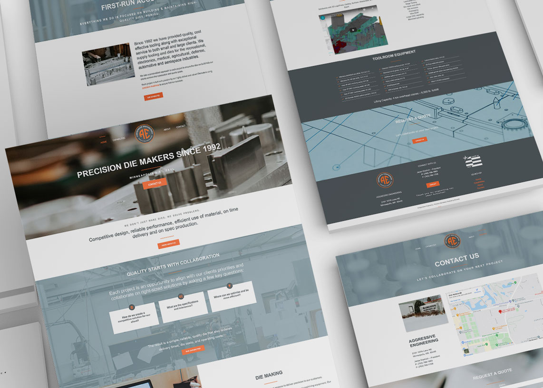 Aggressive Engineering Website Design Minneapolis Minnesota Monarkk Studio