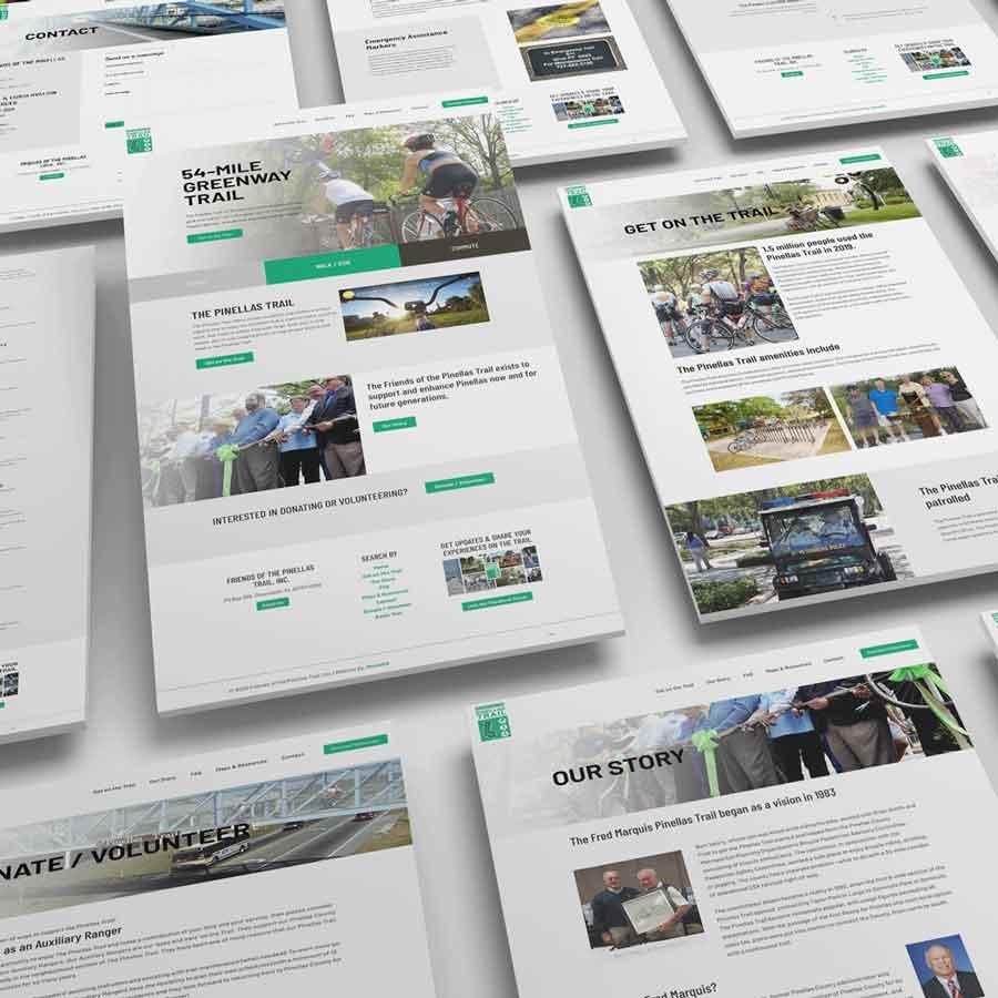 Friends of the Pinellas Trail Website Design Tampa Bay St Petersburg Florida Monarkk Studio