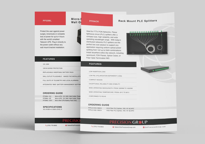 Precision Group Flyer Print Design Prior Lake Minnesota Broadband Solutions Monarkk Studio