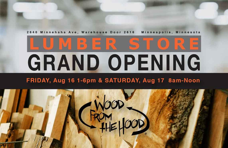Wood From The Hood Minneapolis Print Digital Flyer Design Monarkk Studio