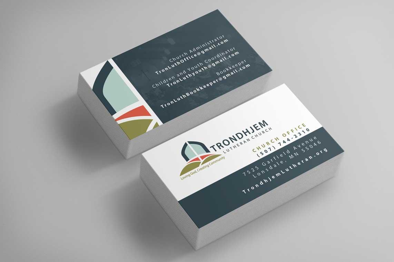 Trondhjem Lutheran Church Business Card Design