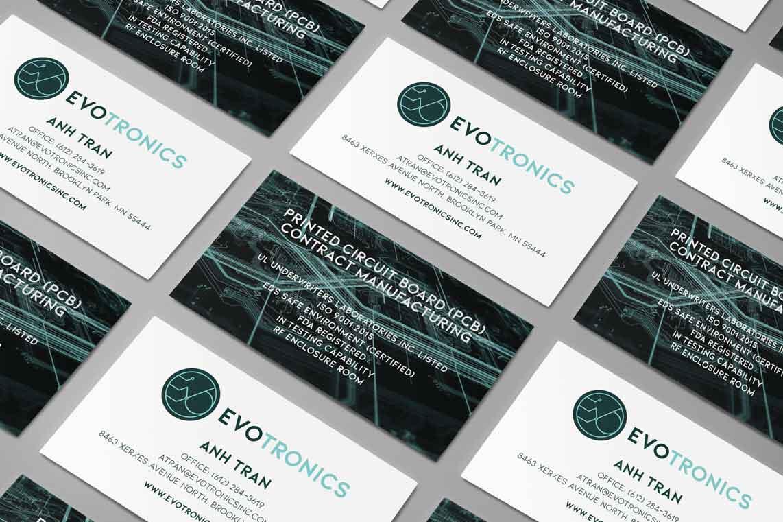Evotronics Inc Business Card Branding Design