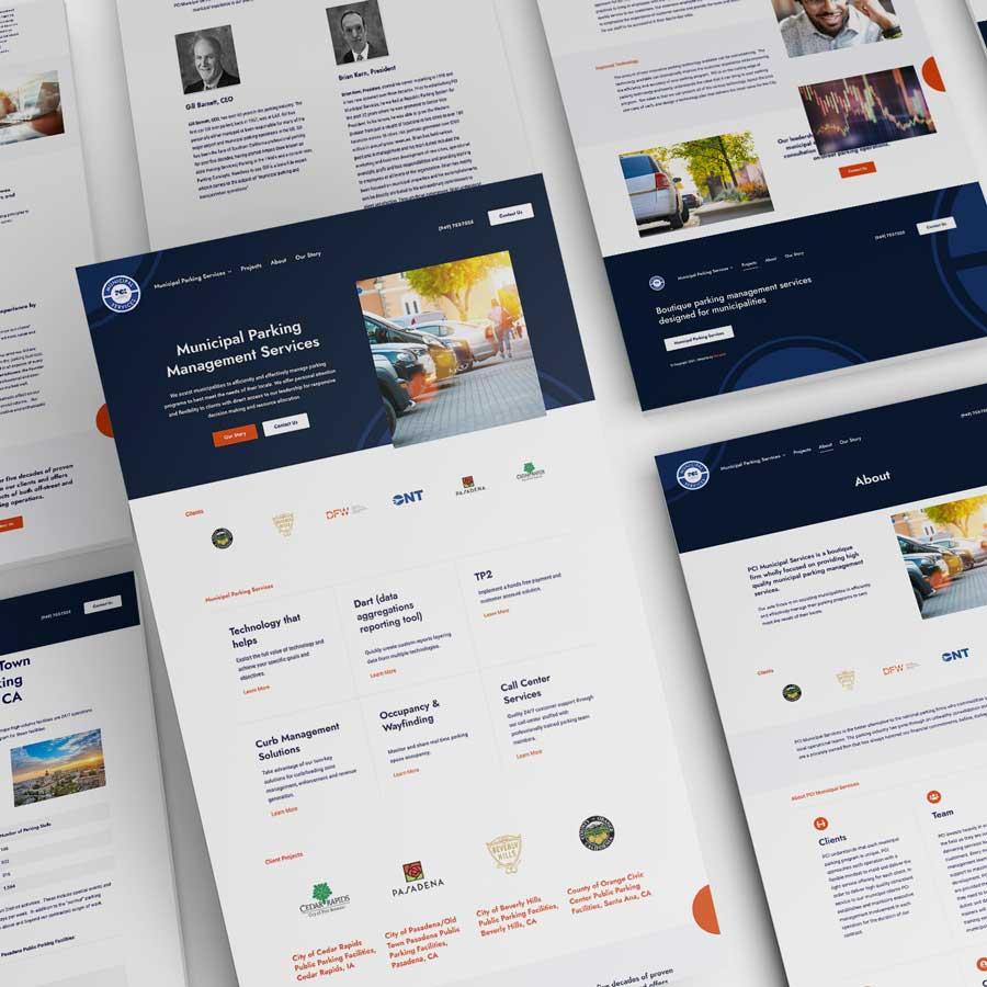 PCI Municipal Services Website Design Monarkk