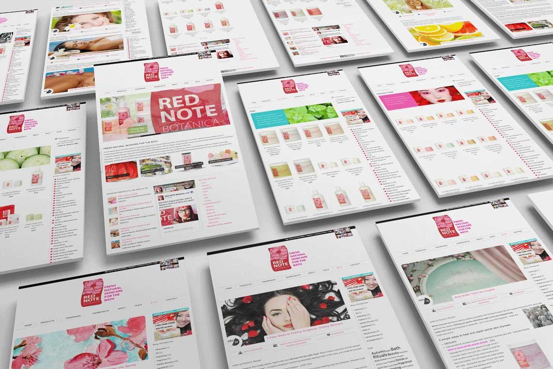 Red Note Botanica Website Design Monarkk