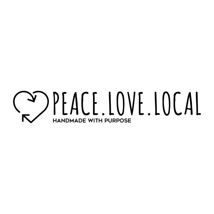 Peace. Love. Local Handmade with Purpose Logo Design Monarkk